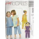 CHILDREN'S GIRLS' TOP 2-lengths  McCALL'S  PATTERN 6-8