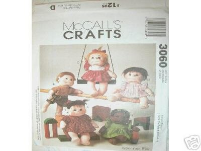"""12"""" DOLL and DOLL CLOTHES         McCALL'S PATTERN NEW"""