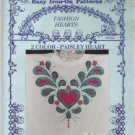 Glendas iron-on pattern FASHION HEARTS PAISLEY HEART