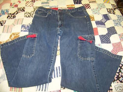 Women's *Anchor Blue* Jeans 32x30 sz-9  7-pocket