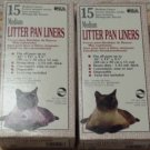 2 - 15 Pk Dockocil heavy-duty Litter Pan Liners MEDIUM