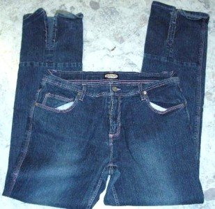Zoey Beth stretch jeans size15/16  -5 pocket 36x34 slit