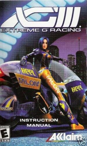 XGIII Extreme G Racing (PS2) INSTRUCTION MANUAL no game