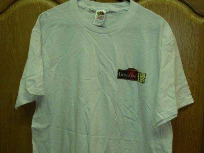 White Walt Disney LION KING 1/2 T-Shirt Adult Large NEW