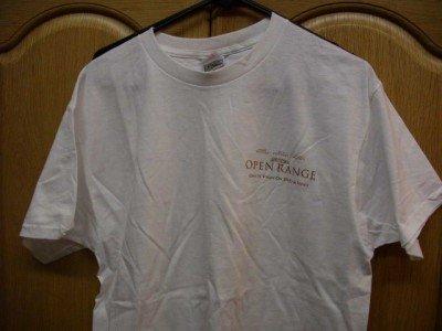 White Open Range Kevin Costner T-Shirt Adult Large NEW
