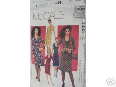 BIAS DRESS- SKIRT & TOP  PATTERN McCALL'S 12-18