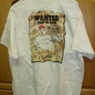 Cherokee Casino WANTED FRIED OR ALIVE T-Shirt Adult XL
