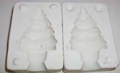 SMALL CERAMIC MOLD ~ CHRISTMAS TREE ~ DECORATIONS