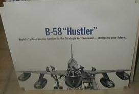 2 Vintage Air Force Recruiting Tri-Standes B-58 HUSTLER