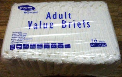 16 Invacare Value BRIEFS Adult Diapers/Underwear Medium