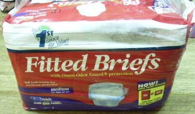 21 FITTED BRIEFS Diapers/Underwear OMNI-ODOR GUARD Med