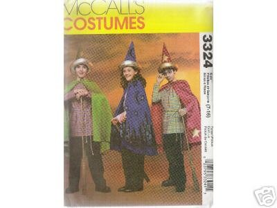 BOY'S AND GIRL'S WIZARD  COSTUMES      McCALL'S PATTERN