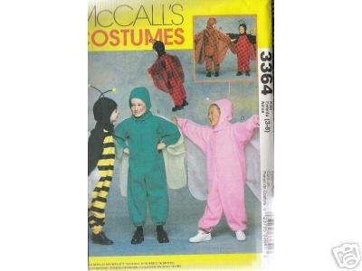 Children's, Boy's & Girls WINGED COSTUMES ---   PATTERN