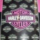 Harley Davidson Blanket - Pink Logo