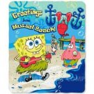 Spongebob muscle beach fleece blanket