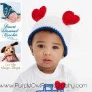 Crochet Pattern 010 - Heart Ears Beanie - All Sizes