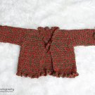 Crochet Pattern 018 - Holiday Sparkle Ruffle Sweater- size 12 - 18 Months