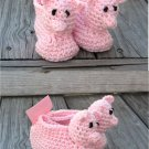 Crochet Pattern 020 - Pig Booties - 3 Sizes