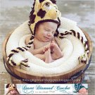 Crochet Pattern 025 - Giraffe Earflap Hat - all sizes
