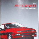1993 Service Manual Chevrolet Geo Storm