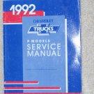 1992 Service Manual Chevrolet P Model Motor Home