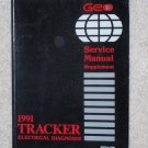 1991 Service Manual Chevrolet Geo Tracker Electrical Diagnosis Supplement