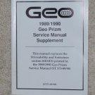 1989 1990 Service Manual Chevrolet Geo Prizm Drivability Supplement