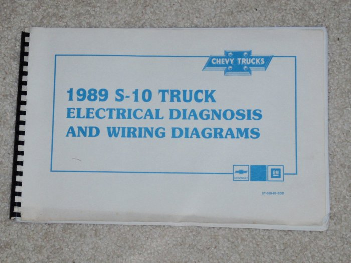 1989 Service Manual Electrical Diagnosis And Wiring