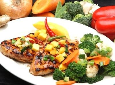 grilled chicken breast with pineapple salsa