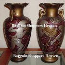 High End Porcelain Knights in Battle Vase set of 2 Very Rare NEW