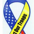 80 Assorted Support Our Troops Large Magnetic Ribbons 4 Assorted Styles of 20 each Style NEW