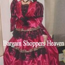 22 inch Fine Bisque Porcelain Victorian Doll with Ballroom Gown NEW