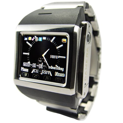 Mind Blowing Cell Phone Watch in Stainless Steel  [TKE-CVSL-104]