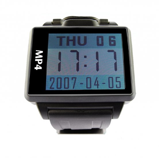 4GB - Widescreen MP4 Player Watch - 1.8 Inch Display  [TKE-CVESG-S818-4GB]