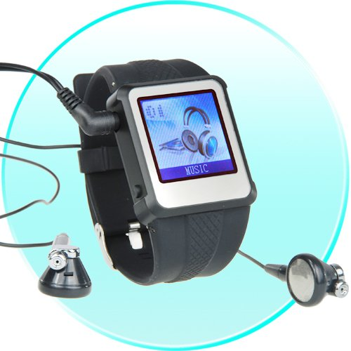 8GB - Original Watch MP4 Player  Black - 1.5-inch Screen  [TKE-CVAAD-WM888-8GB-BLACK]