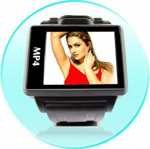 8GB - Widescreen MP4 Player Watch - 1.8 Inch Display  [TKE-CVESG-S818-8GB]