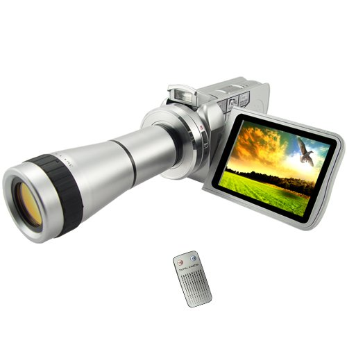 MPEG4 Digital Video Camcorder With Optical Telescope Zoom Lens  [TKE-CVSE-DV01]