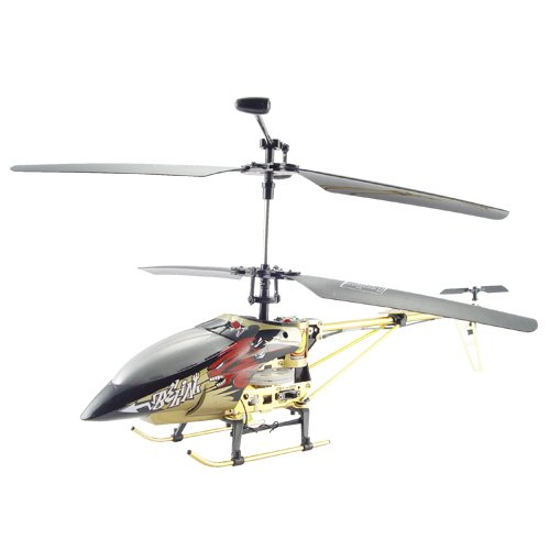 Large Metal RC Helicopter - Bronze Color + LED Lights (220V)  [TKE-CVGP-T22-220V]