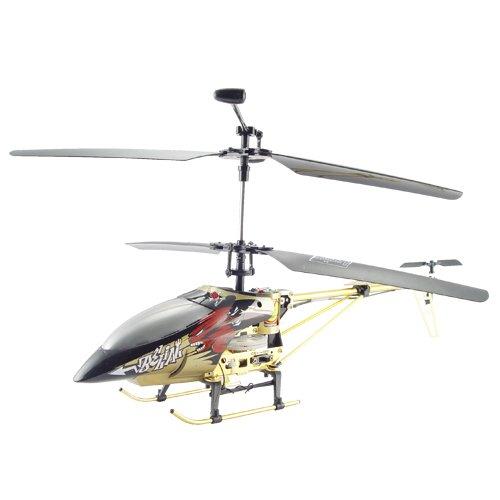 Large Metal RC Helicopter - Bronze Color + LED Lights (110V)  [TKE-CVGP-T22-110V]