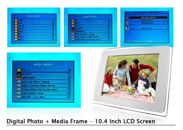 Digital Photo + Media Frame - 10.4 Inch LCD Screen  [TKE-CVEBD-108]