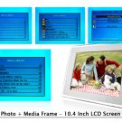 Digital Photo + Media Frame - 10.4 Inch LCD Screen  [TKE-CVEBD-108]