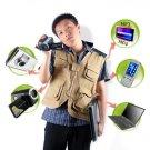 Solar Vest - Solar Battery + Charger for Portable Electronics  [TKE-CVFR-S09]
