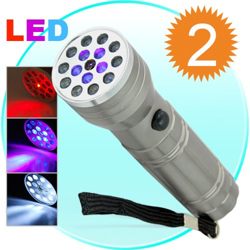 2 CSI 3-in-1 Super Flashlights (LED, UV, Laser)  [TKE-CVJW-G76]