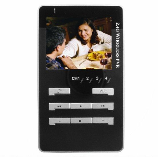 2.4GHz Wireless Mobile AV Recorder - 2.5 inch LCD - SD MMC - USB  [TKE-CVEJS-928]