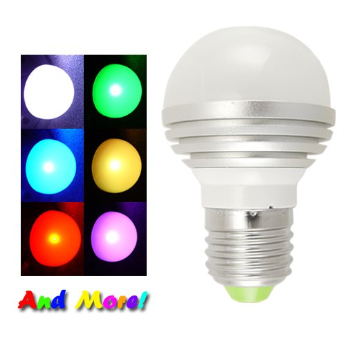LED Color Changing Light Bulb with Remote  [TKE-CVCL-G55]