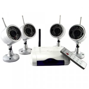 Wireless IR Night Vision Camera Security Set (NTSC)  [TKE-CVD-43A802X4-NTSC]