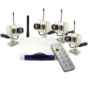 Mini Wireless Home Security Combo - 4 Cameras (USA)  [TKE-CVD-42A208X4-NTSC]