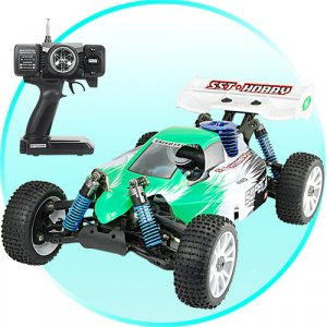 1:8 Scale Nitro Race Car With Pistol Grip Remote Control (220)  [TKE-CVKM-T32]