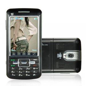 Touchscreen Dual SIM Dual Band GSM Cellphone + MSN and DVB-T  [TKE-CVDQ-M35]