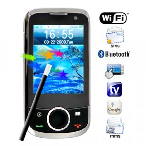 The Beatle - Quadband Touch Screen Dual SIM WiFi Media Cellphone  [TKE-CVSC-M58]
